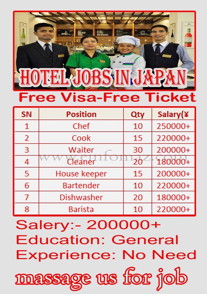 Hotel Job In Japan