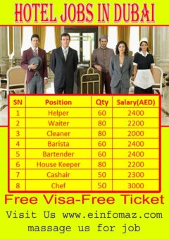 Jobs In Hotel Dubai
